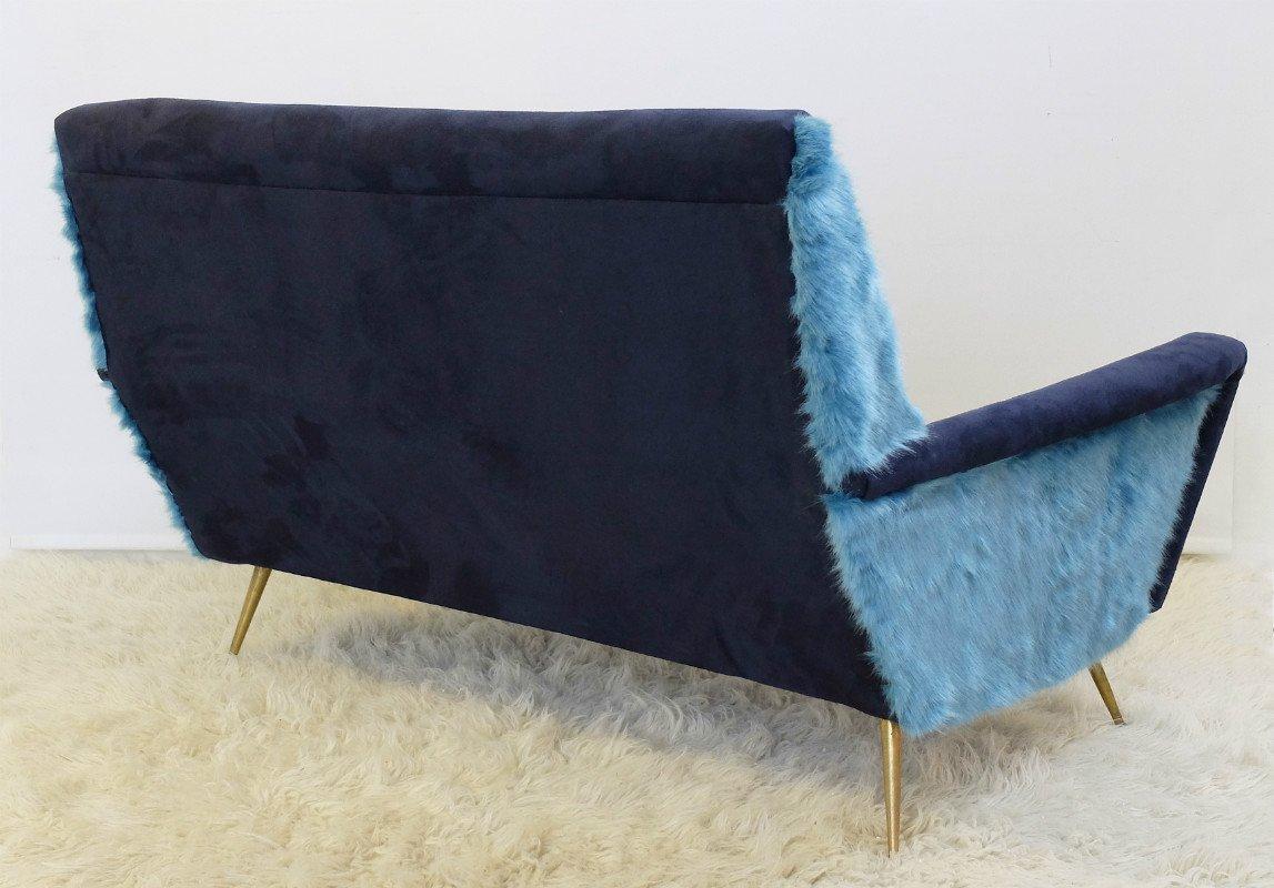 italian alcantara sofa for sale at pamono. Black Bedroom Furniture Sets. Home Design Ideas