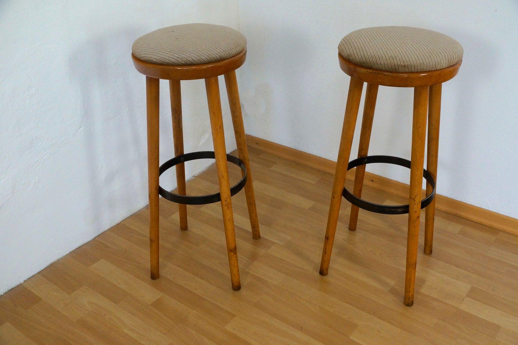 german bar stools from spahn m bel 1960s set of 2 for sale at pamono. Black Bedroom Furniture Sets. Home Design Ideas