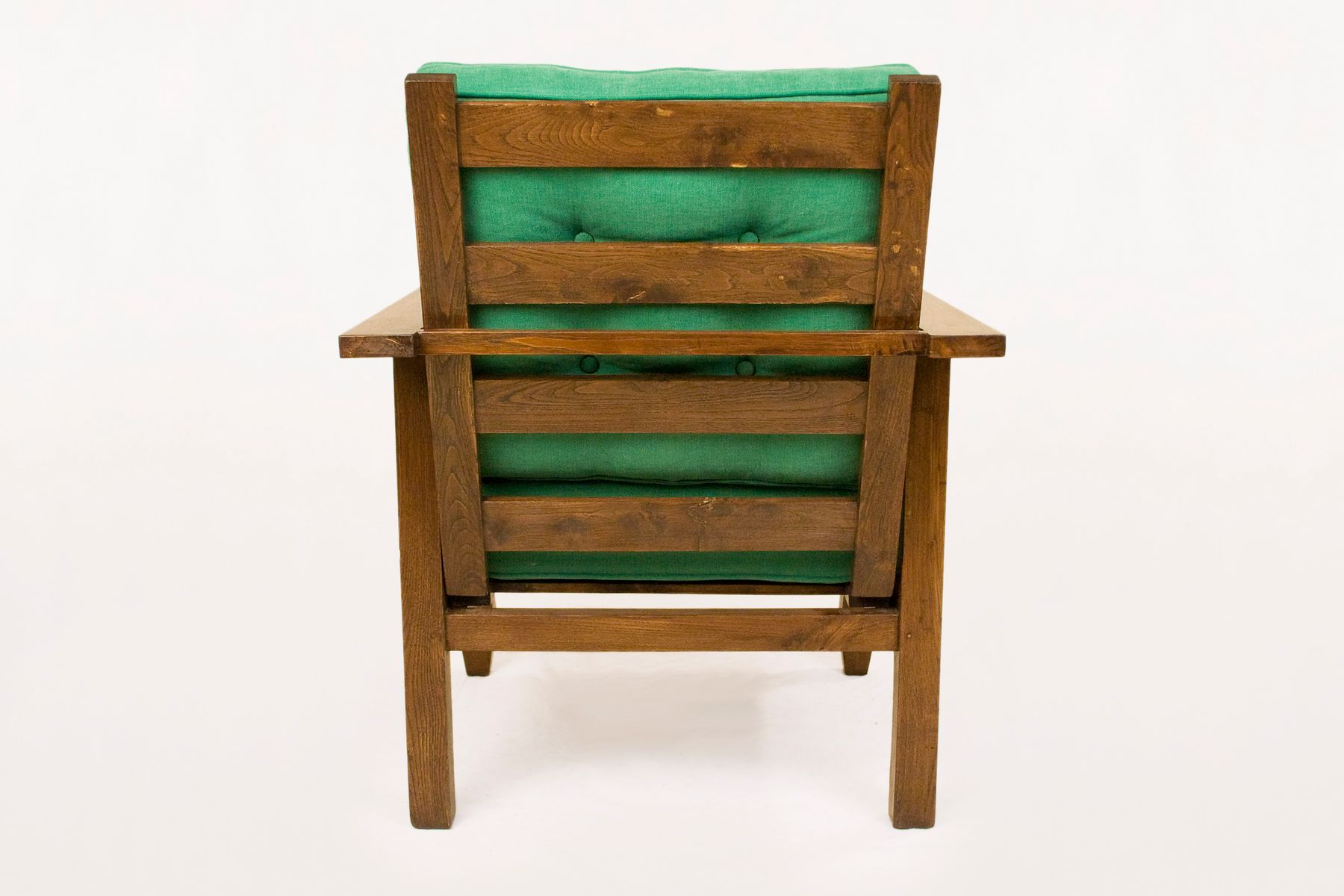 Vintage Wood And Green Arm Chairs By William Morris S Set Of - William morris chairs