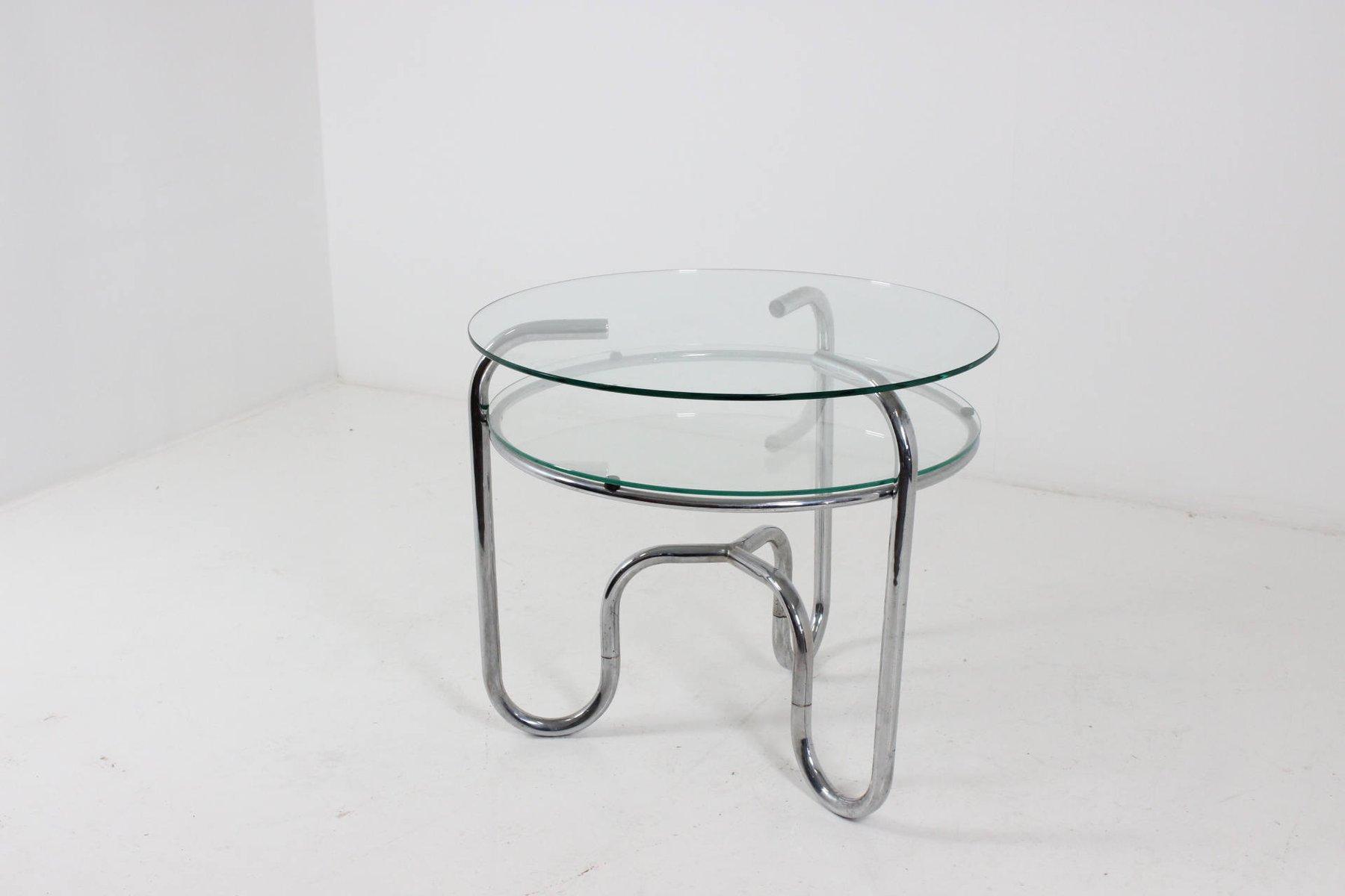best tavolo vintage in acciaio tubolare cromato e vetro repubblica ceca anni u with tavoli in acciaio e vetro