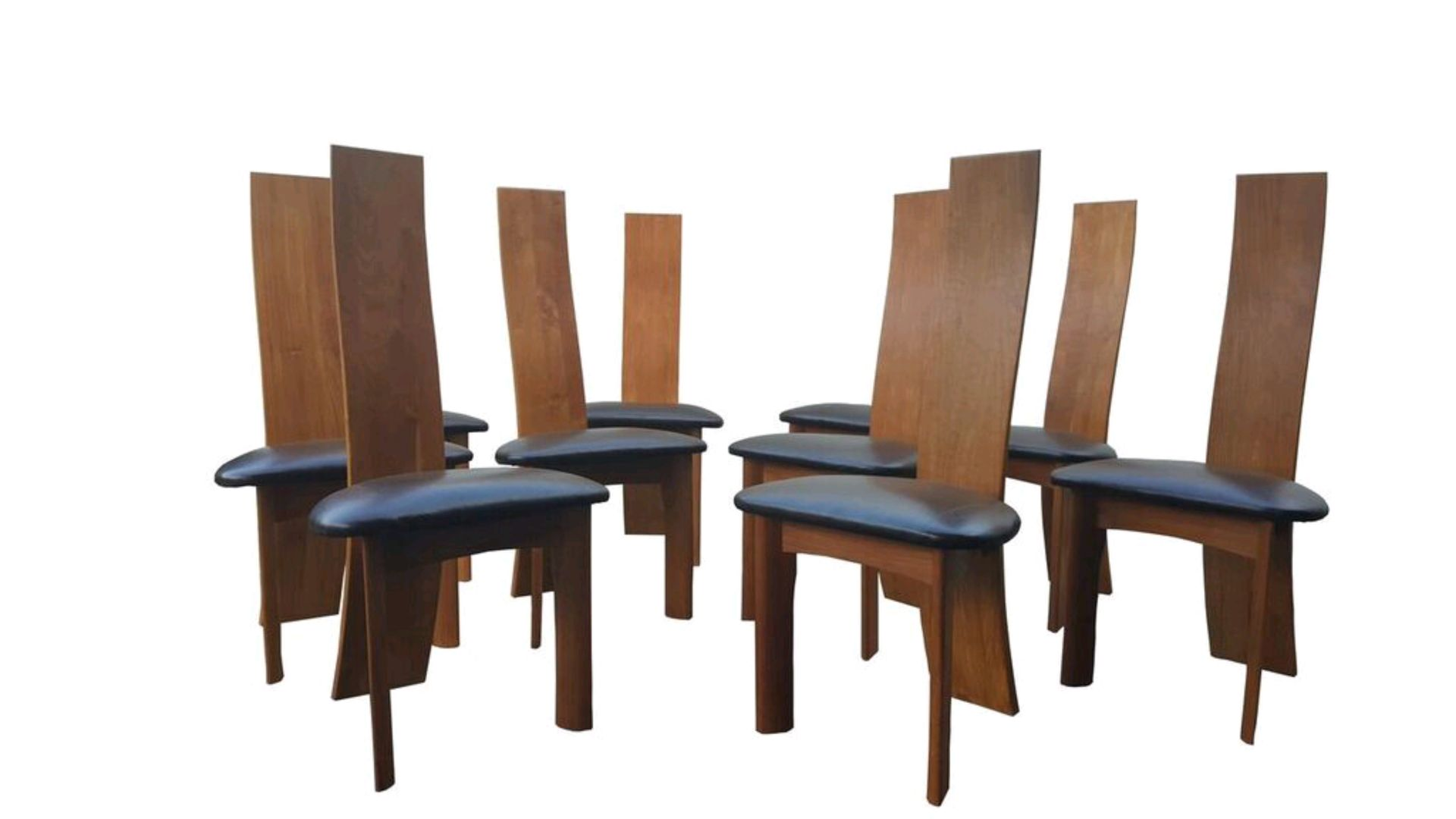 Danish modern dining chairs by bob og dries van den bergh for Designer dining chairs sale