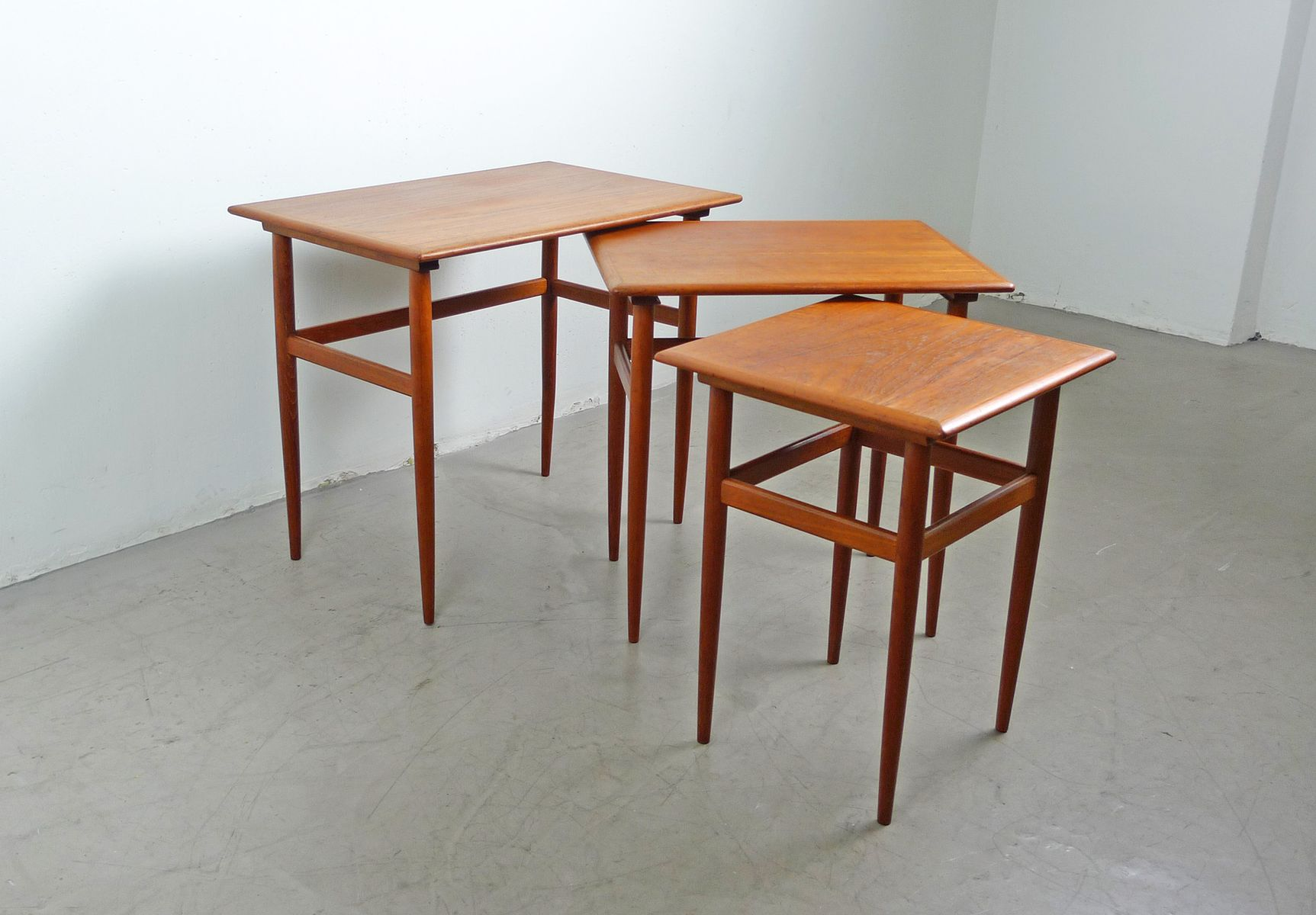 Nesting Tables Danish Teak Nesting Tables 1950s For Sale At Pamono