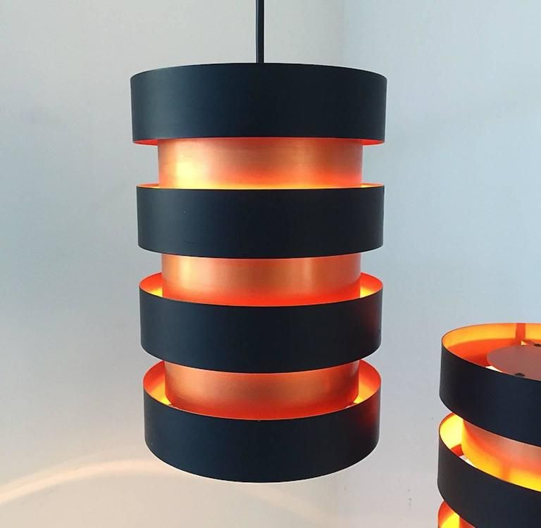 d nische mid century kupfer deckenlampe von jo hammerborg f r fog morup bei pamono kaufen. Black Bedroom Furniture Sets. Home Design Ideas