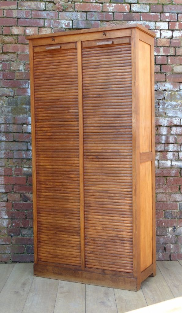French double tambour door cabinet 1940s for sale at pamono for Double doors for sale