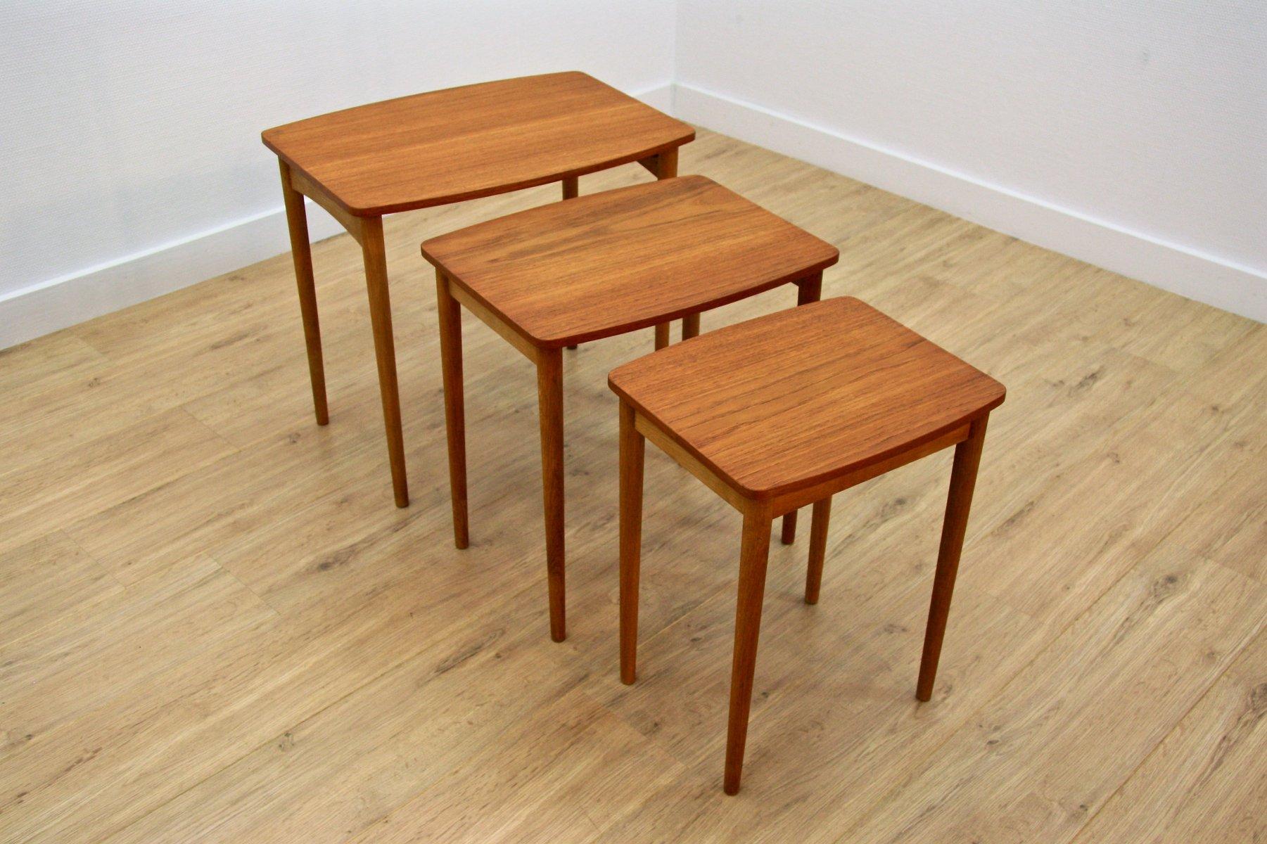 Perfect Danish Teak U0026 Oak Nesting Tables, 1960s