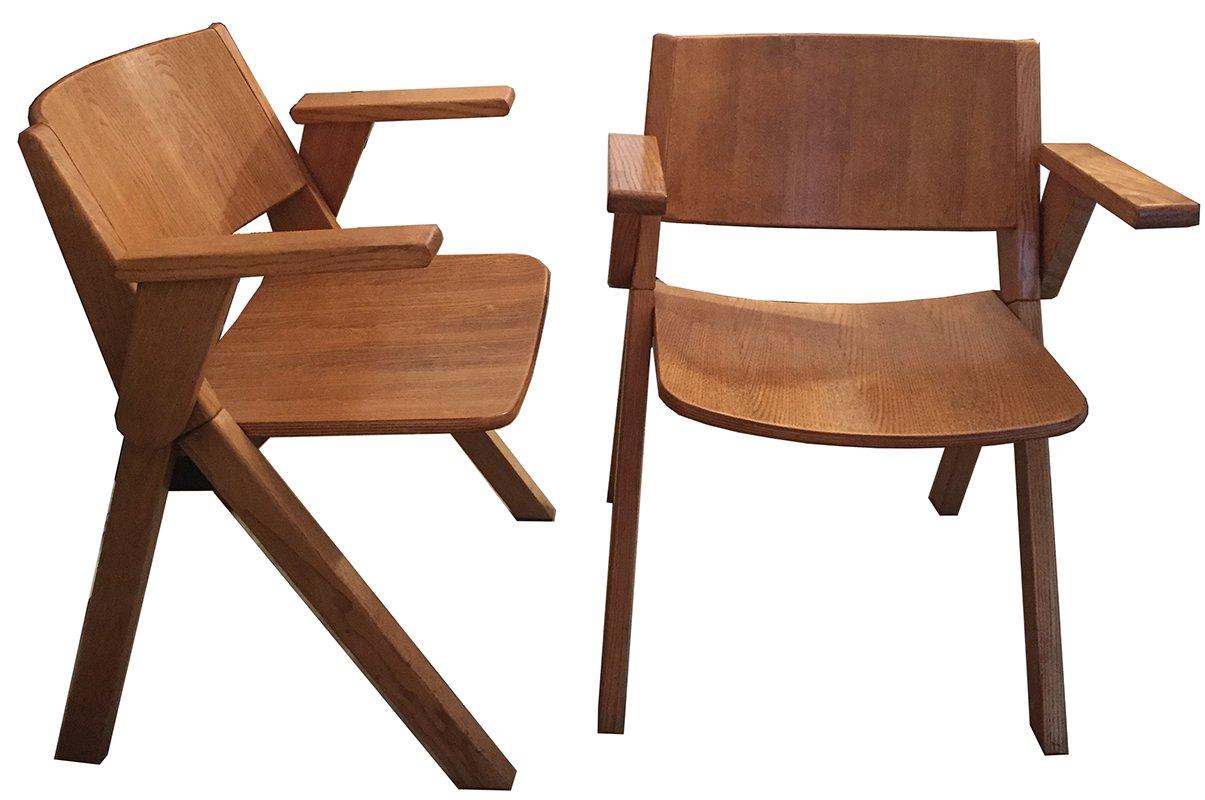 sedie vintage in legno, italia, anni '60, set di 2 in vendita su ... - Sedie Vintage Anni 60