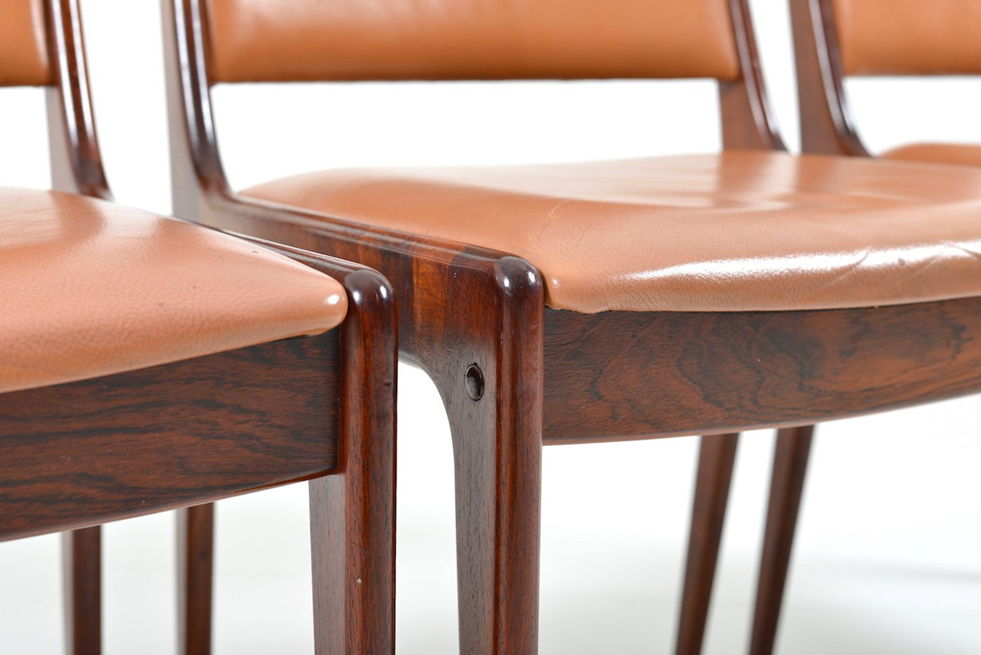 Rosewood Dining Chairs by Johannes Andersen for Uldum Møbelfabrik ...
