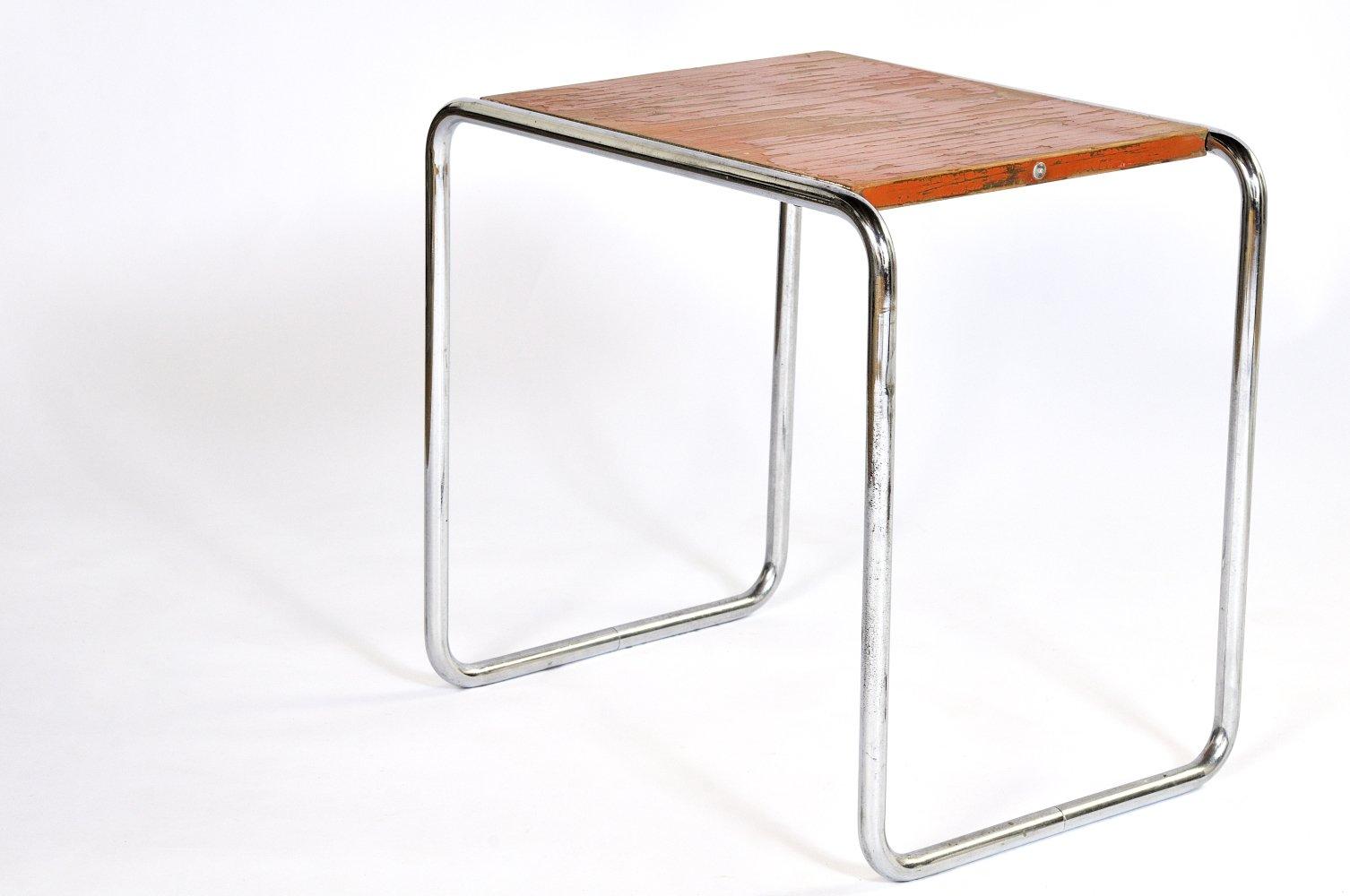 Marcel Breuer Tubular Chair - Vintage b9 orange tubular nesting table by marcel breuer for thonet