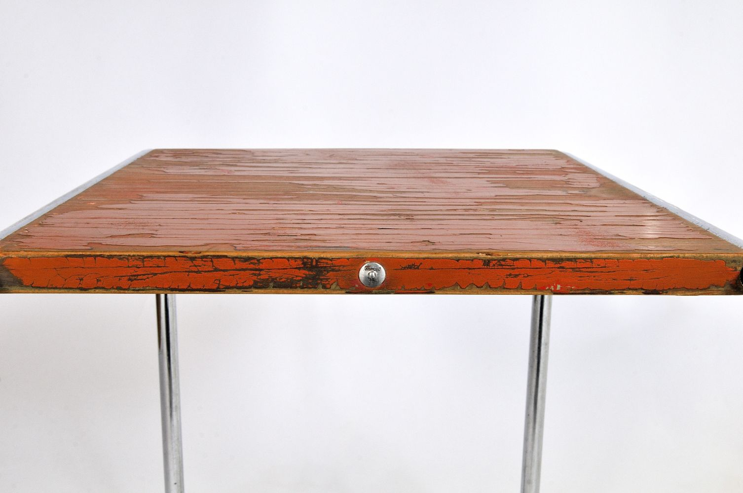 Vintage b9 orange tubular nesting table by marcel breuer for price per piece geotapseo Images