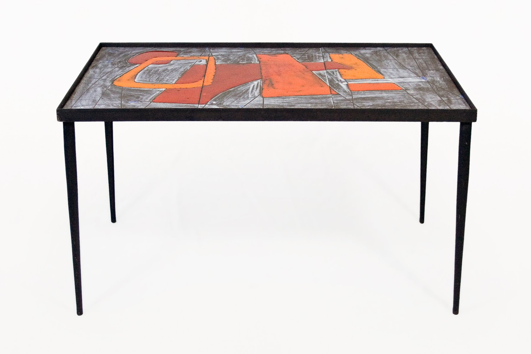 Ceramic Coffee Tables By Robert And Jean Cloutier 1960s Set Of 2 For Sale At Pamono