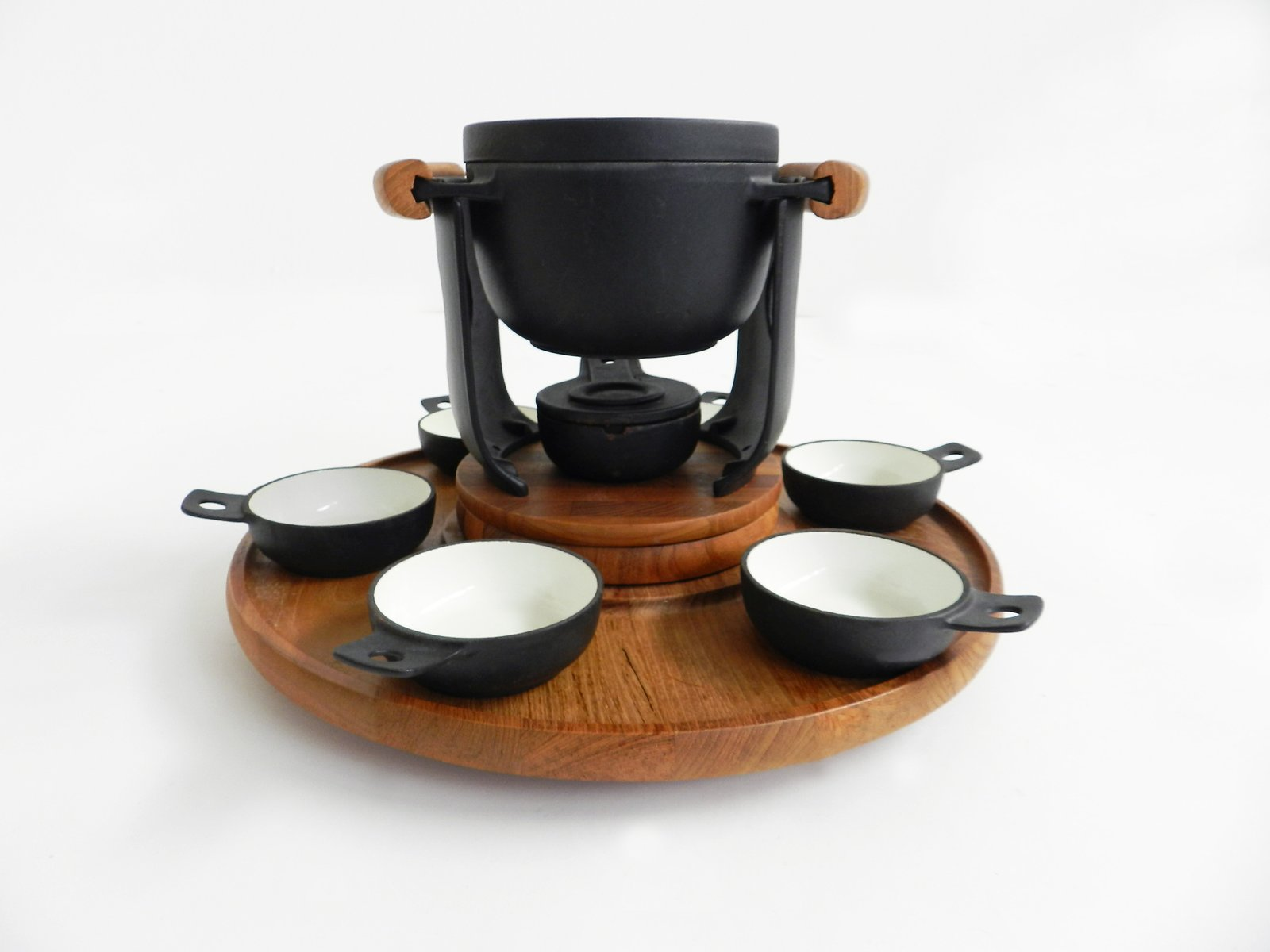 vintage rotating fondue set by richard nissen for sale at. Black Bedroom Furniture Sets. Home Design Ideas