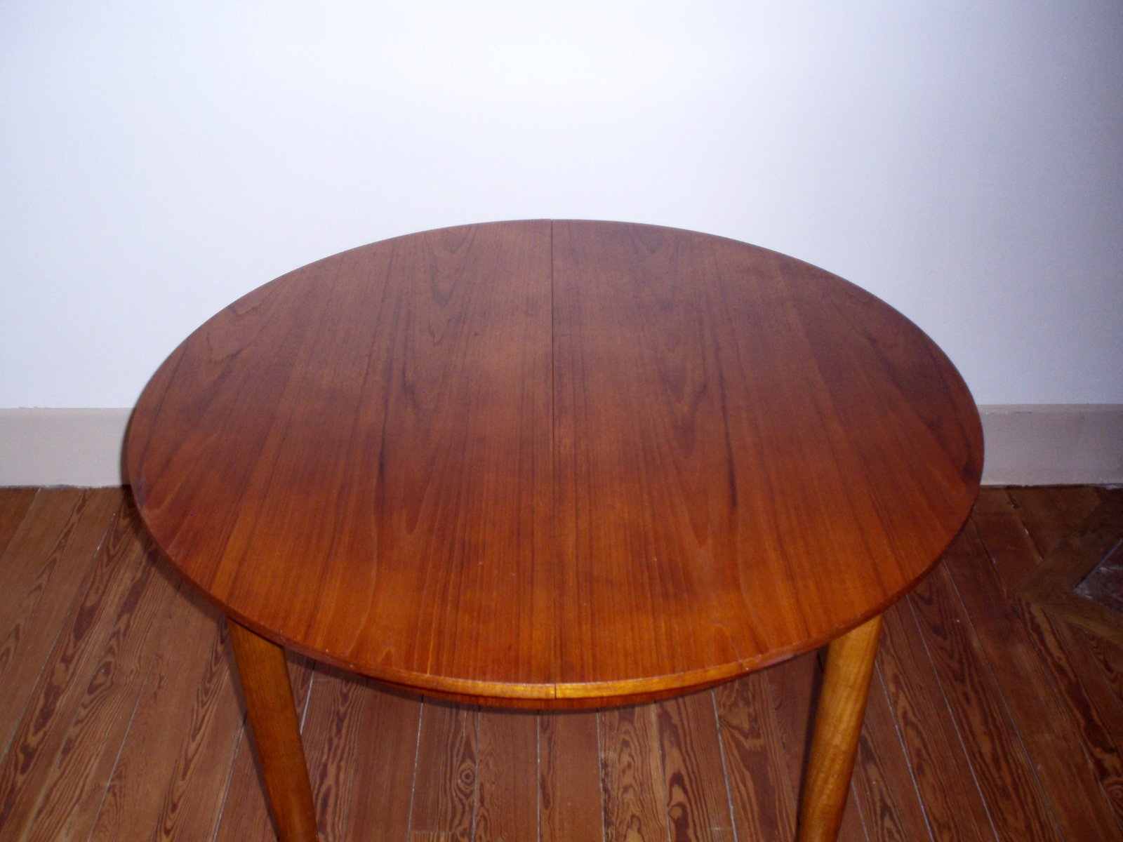 teak dining table with drop leaf 1960s for sale at pamono te