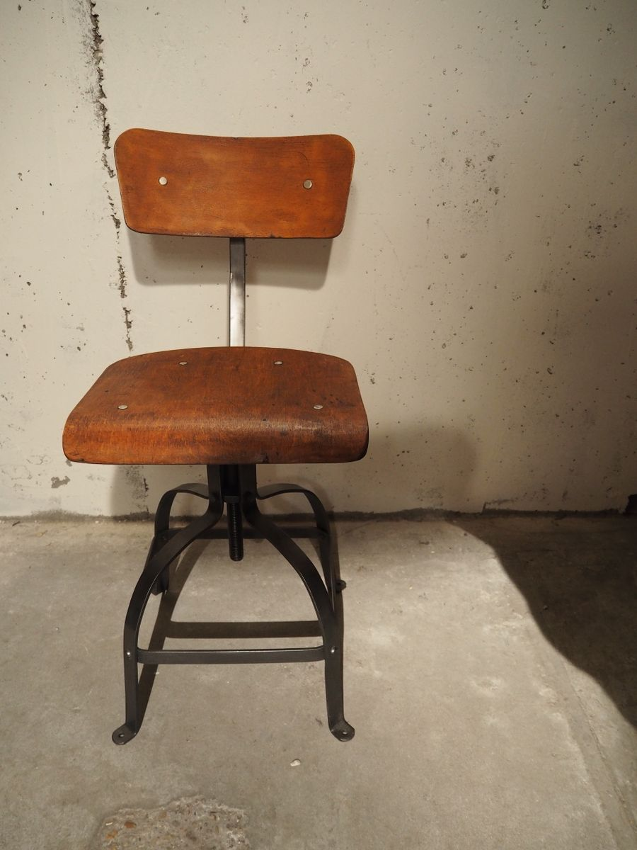 Industrial patented workshop chair from bienaise 1950 for sale at pamono - Cb industry chair ...
