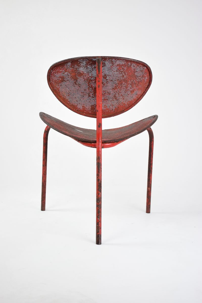 original edition nagasaki chair by mathieu mategot 1954 for sale at pamono. Black Bedroom Furniture Sets. Home Design Ideas