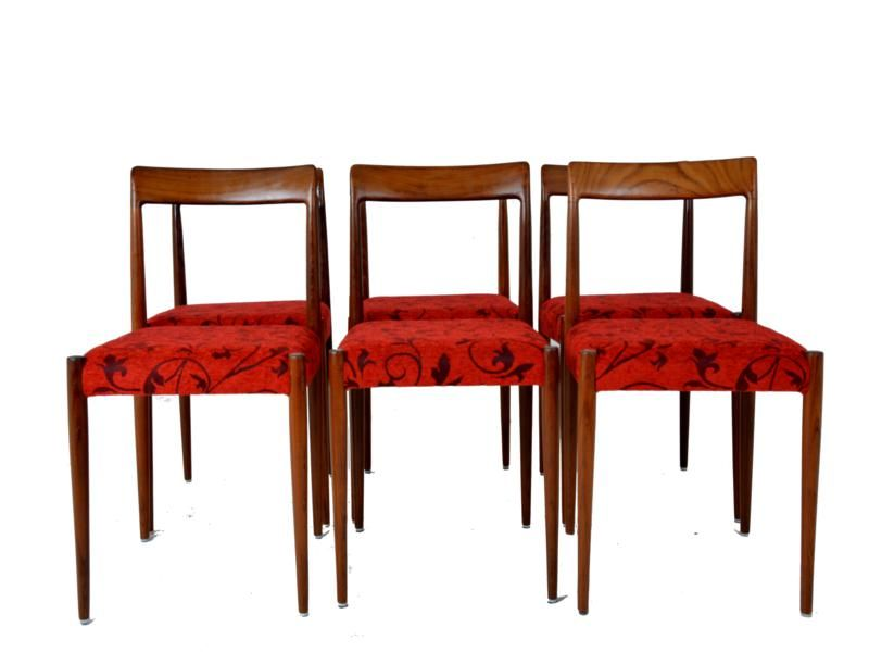 Vintage Red Dining Chairs  Set of 6Vintage Red Dining Chairs  Set of 6 for sale at Pamono. Red Dining Chairs And Table. Home Design Ideas