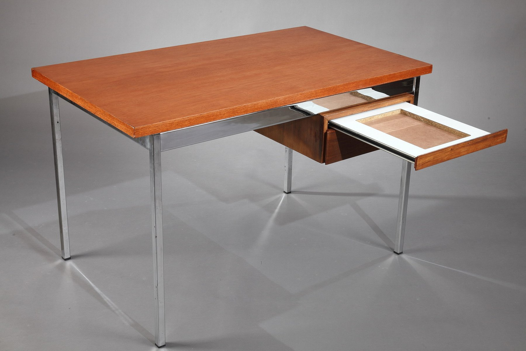 modernist desk by florence knoll for knoll 1960s for sale. Black Bedroom Furniture Sets. Home Design Ideas