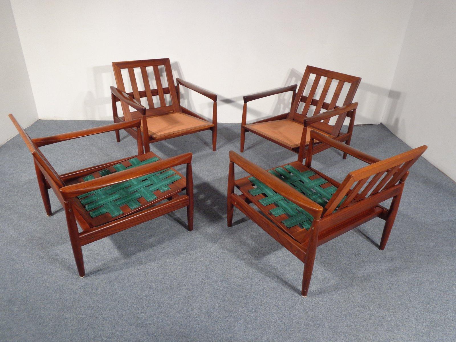 schwedischer teakholz lounge stuhl von erik w rtz f r. Black Bedroom Furniture Sets. Home Design Ideas