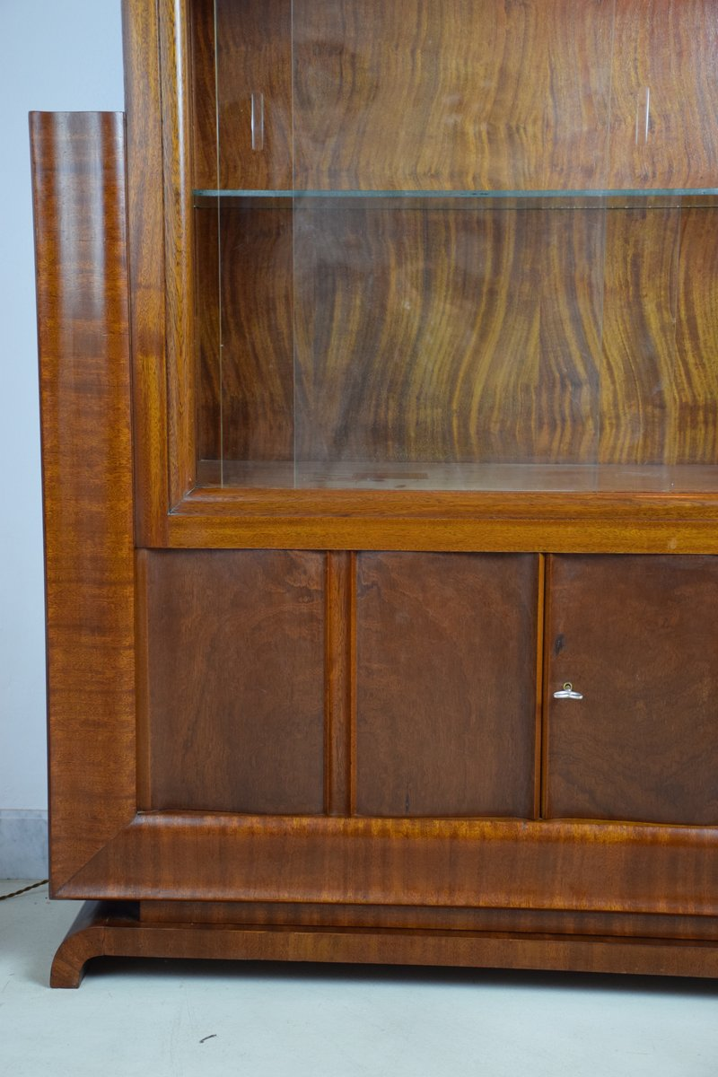 Art deco light up display cabinet 1930s for sale at pamono for 1930s kitchen cabinets for sale