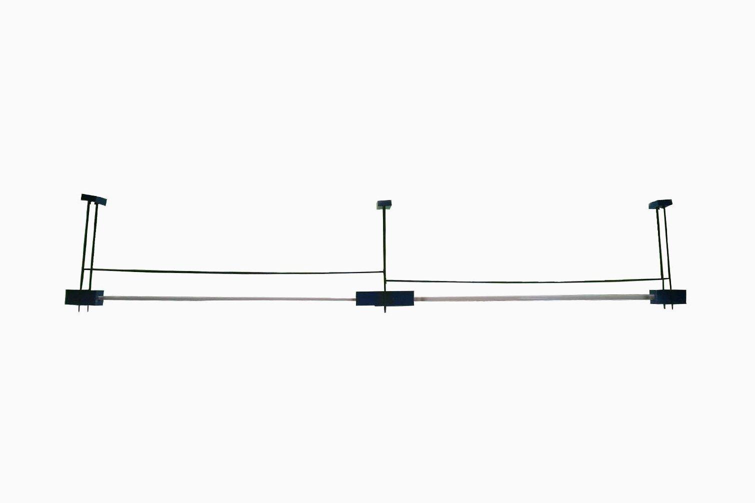lange italienische eisen h ngelampe in blau schwarz. Black Bedroom Furniture Sets. Home Design Ideas