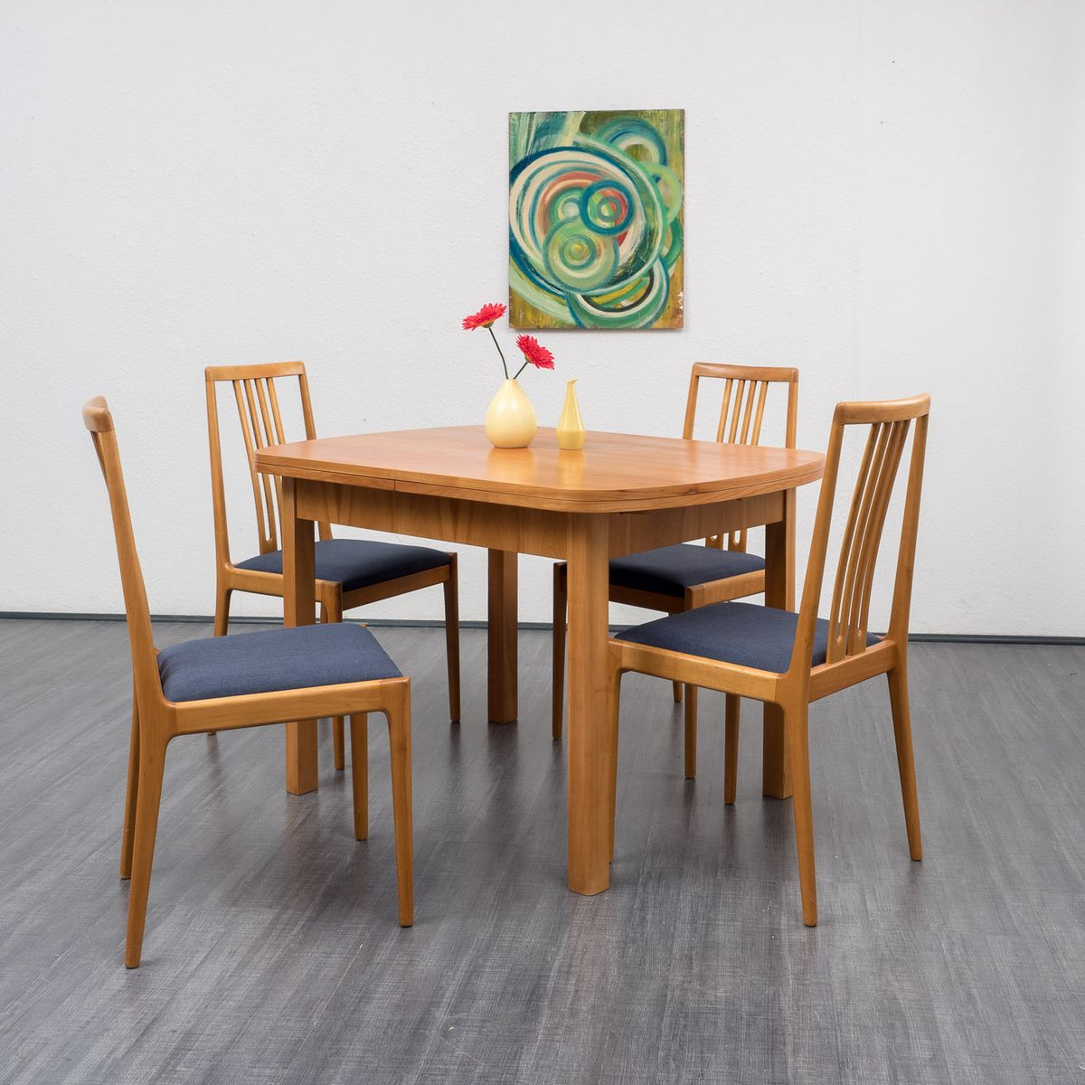 extendable cherry dining table 1950s 11 89800 price per piece. Interior Design Ideas. Home Design Ideas