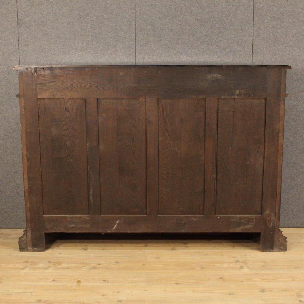 italienisches geschnitztes sideboard aus holz 1950 bei. Black Bedroom Furniture Sets. Home Design Ideas