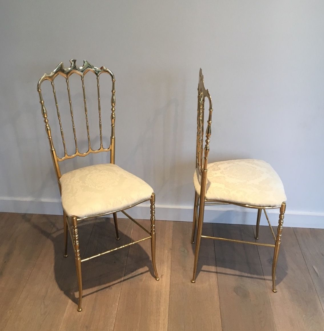 . Napoleon III Style Brass Chairs  1940s  Set of 2 for sale at Pamono