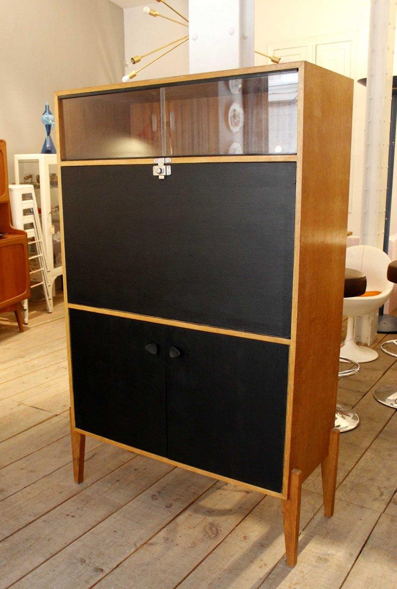 gro er schwarz lackierter sekret r 1950er bei pamono kaufen. Black Bedroom Furniture Sets. Home Design Ideas