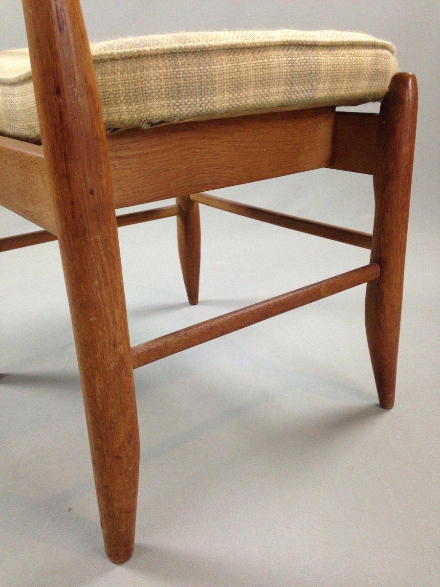 franz sischer esszimmerstuhl aus eiche von guillerme et. Black Bedroom Furniture Sets. Home Design Ideas