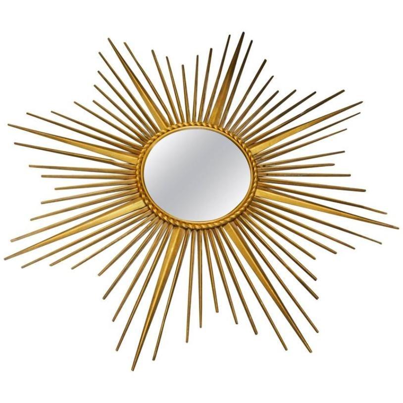 midcentury italian sunburst mirror by chaty vallauris 1960s