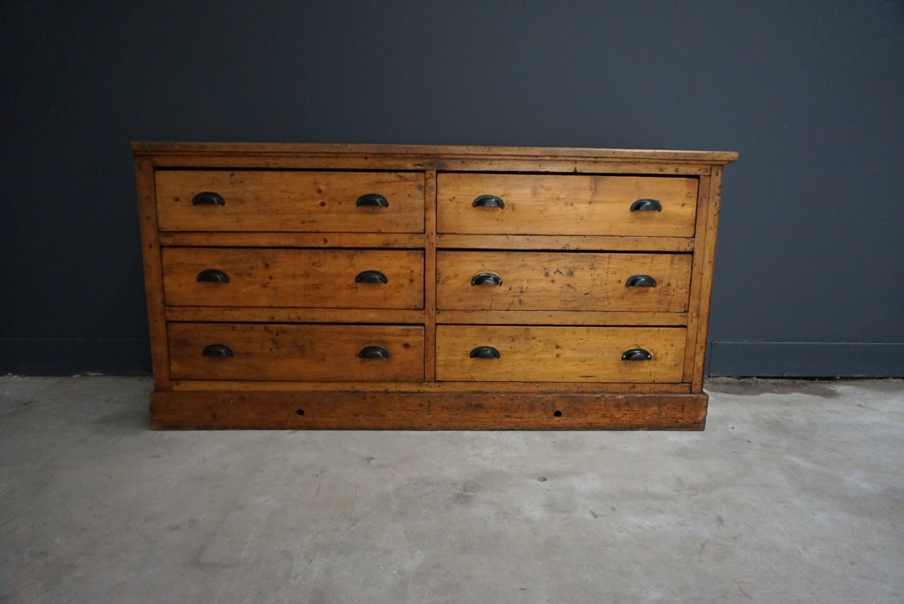 Vintage French Pine and Beech Wood Apothecary Cabinet, 1930s for ...