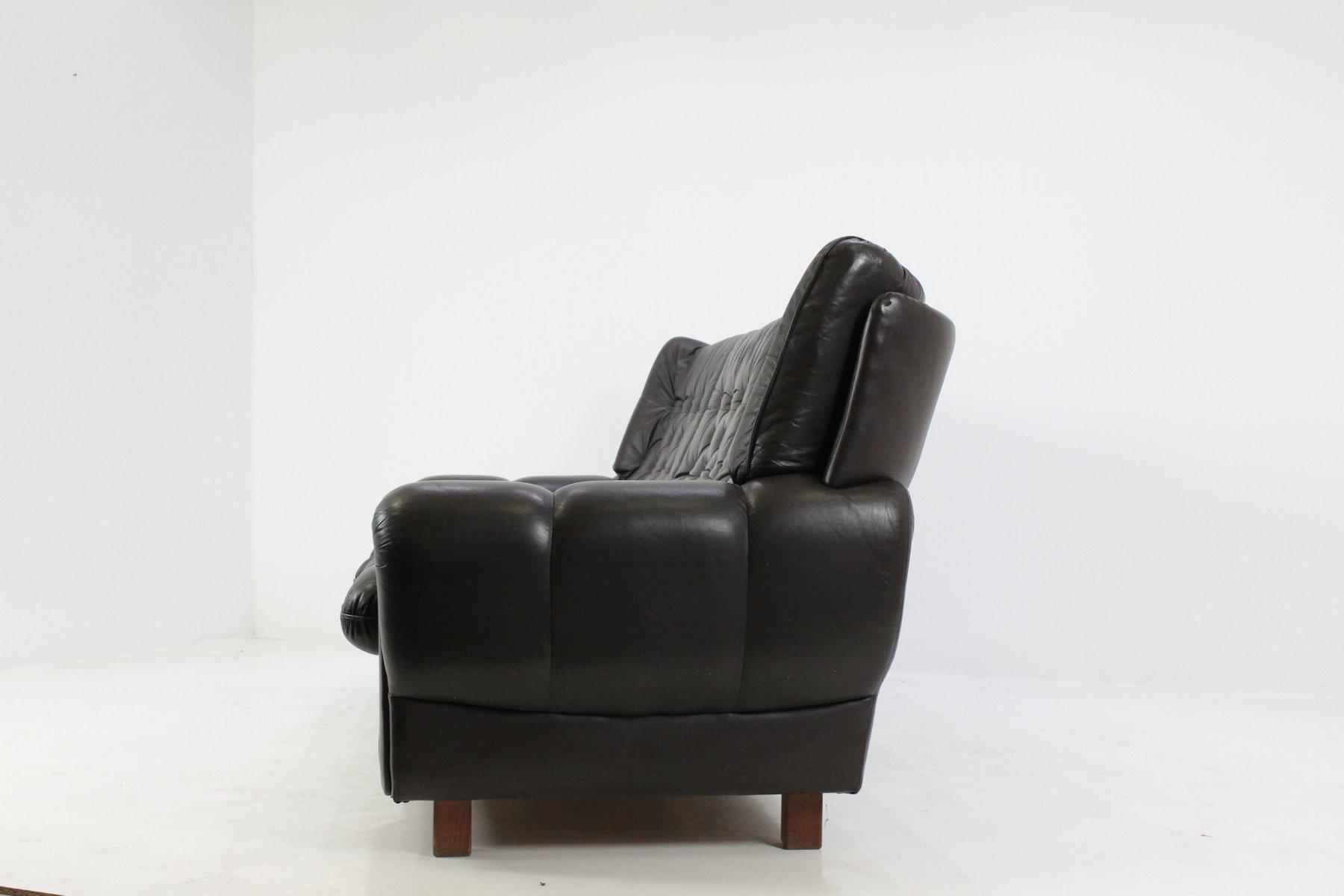 braunes tschechisches ledersofa 1970er bei pamono kaufen. Black Bedroom Furniture Sets. Home Design Ideas
