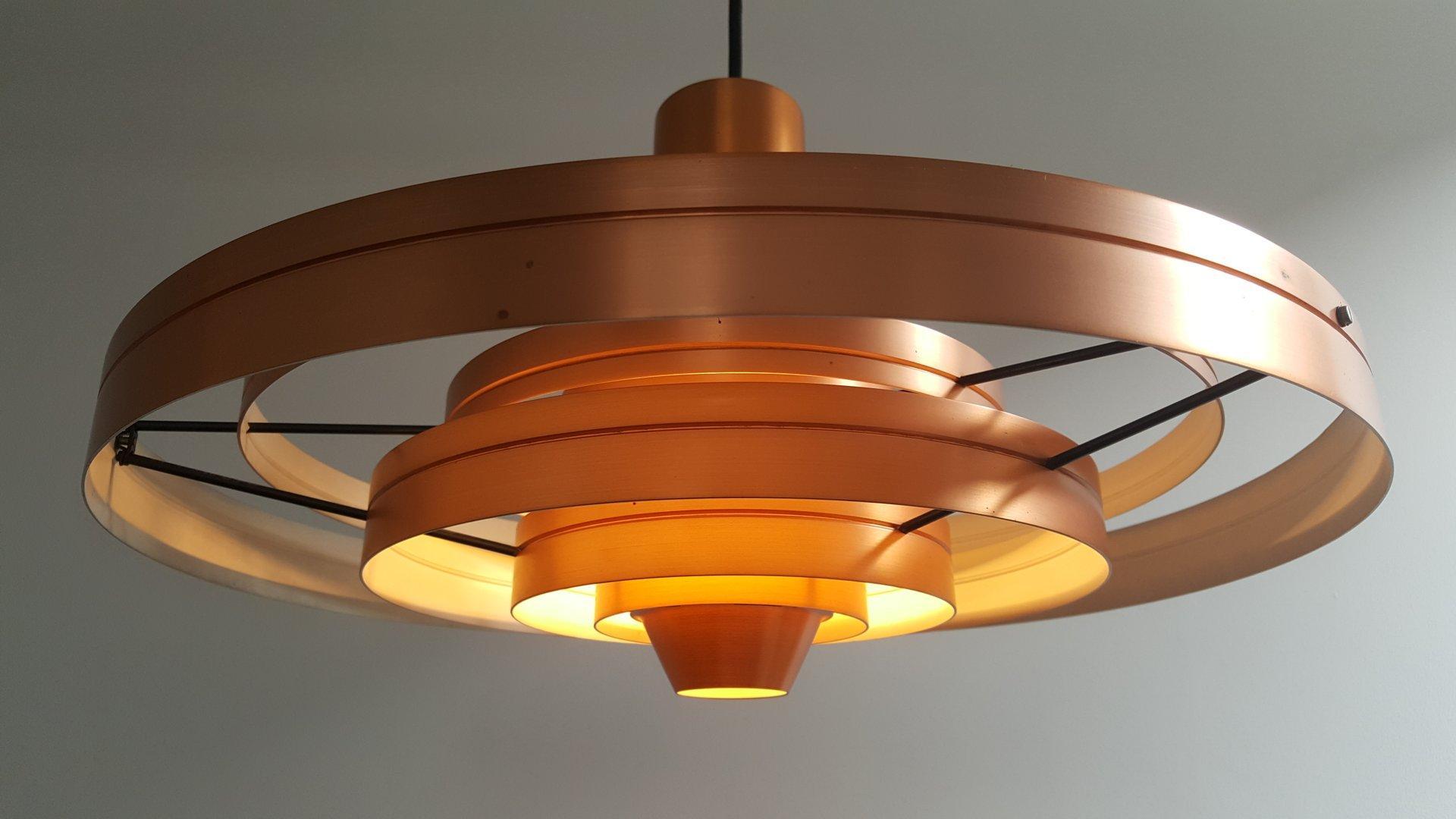 copper fibonacci pendant light by sophus frandsen for fog. Black Bedroom Furniture Sets. Home Design Ideas