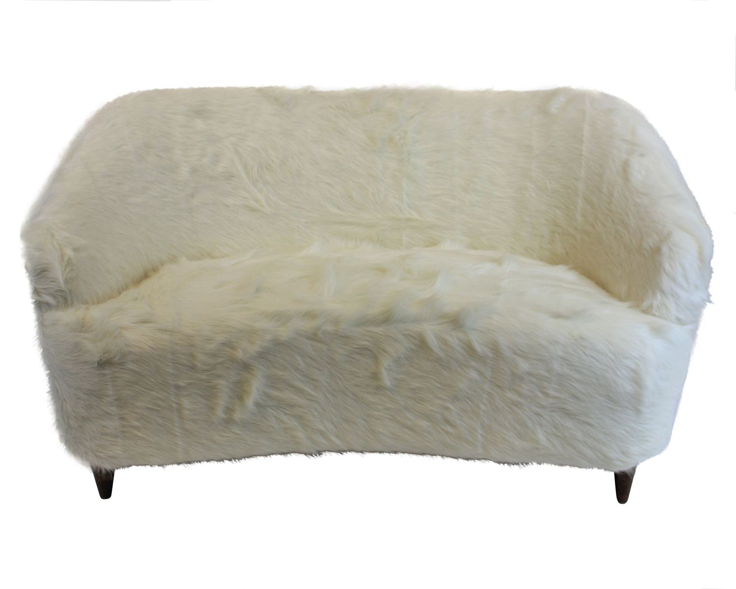 Vintage danish sofa in faux fur for sale at pamono - Decke fur sofa ...