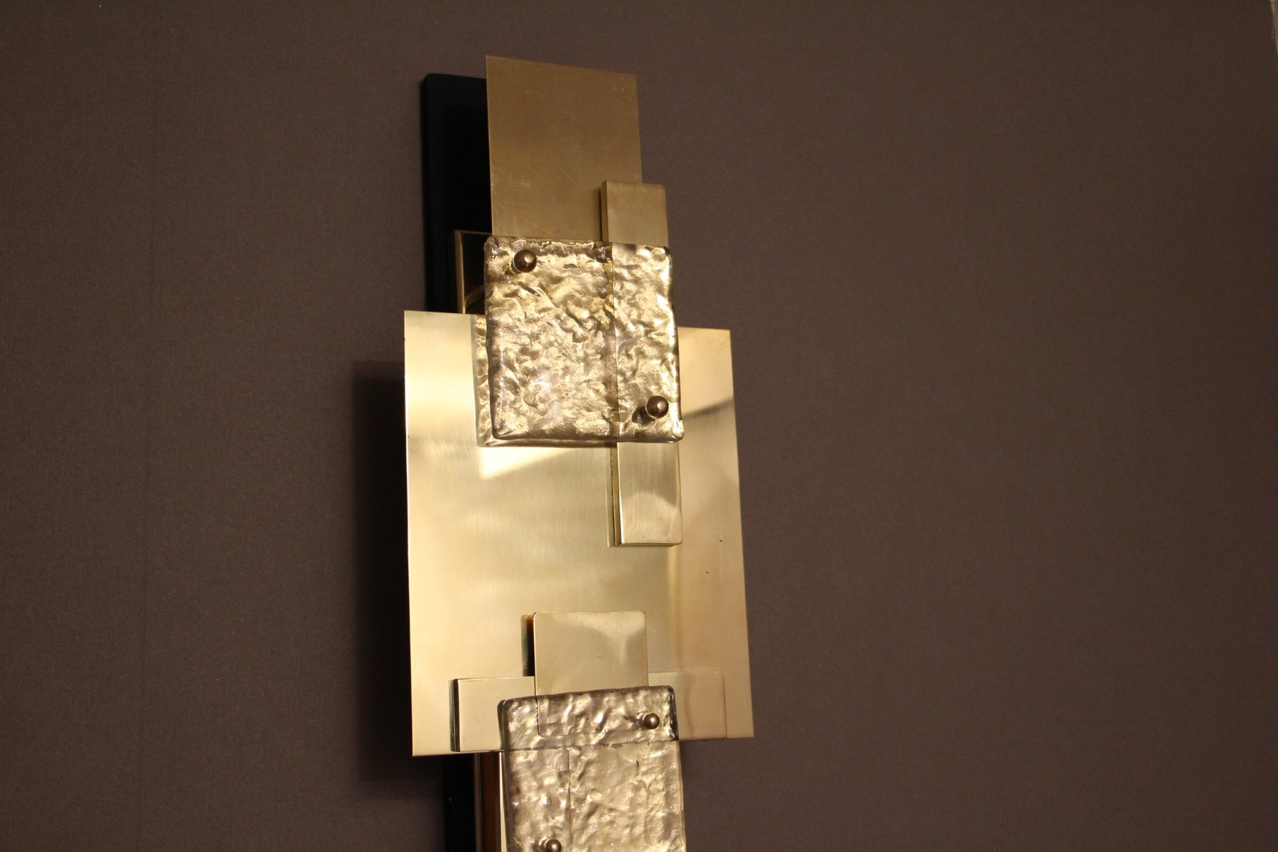 Lampade da parete lunghe vintage in ottone lucidato set - Lampade a parete design ...