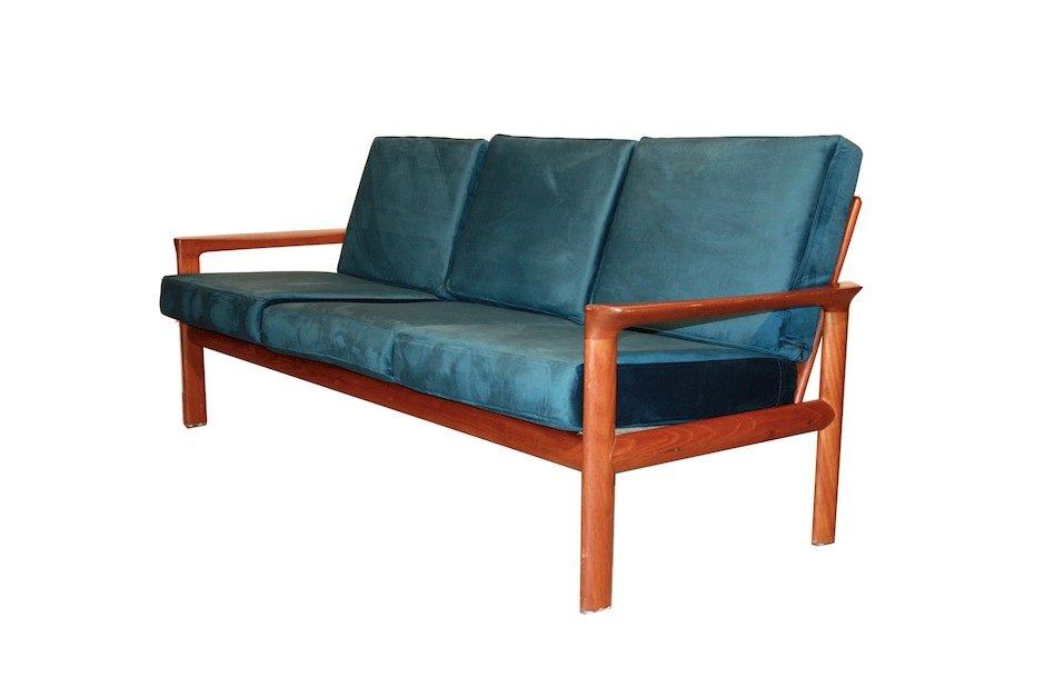 sofa by sven ellekaer for komfort borneo 1960s for sale at pamono. Black Bedroom Furniture Sets. Home Design Ideas