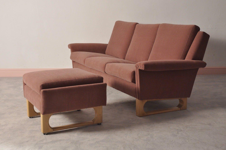 scandinavian modern 3 sitzer sofa ottomane bei pamono kaufen. Black Bedroom Furniture Sets. Home Design Ideas