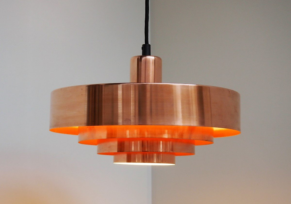 Orange hanging lamp - Price Per Piece