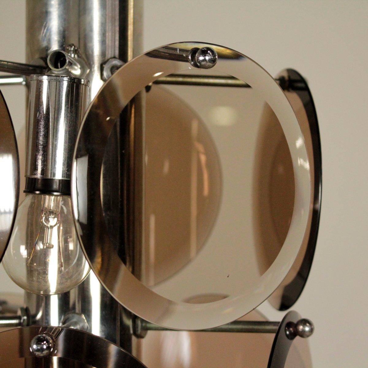 italienische vintage h ngelampe mit braunen glasscheiben bei pamono kaufen. Black Bedroom Furniture Sets. Home Design Ideas