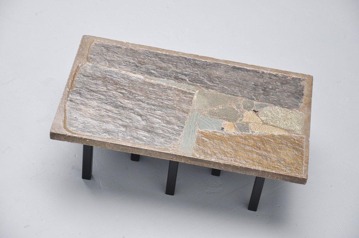 Rechteckiger couchtisch aus stein beton von paul kingma for Designer couchtisch beton