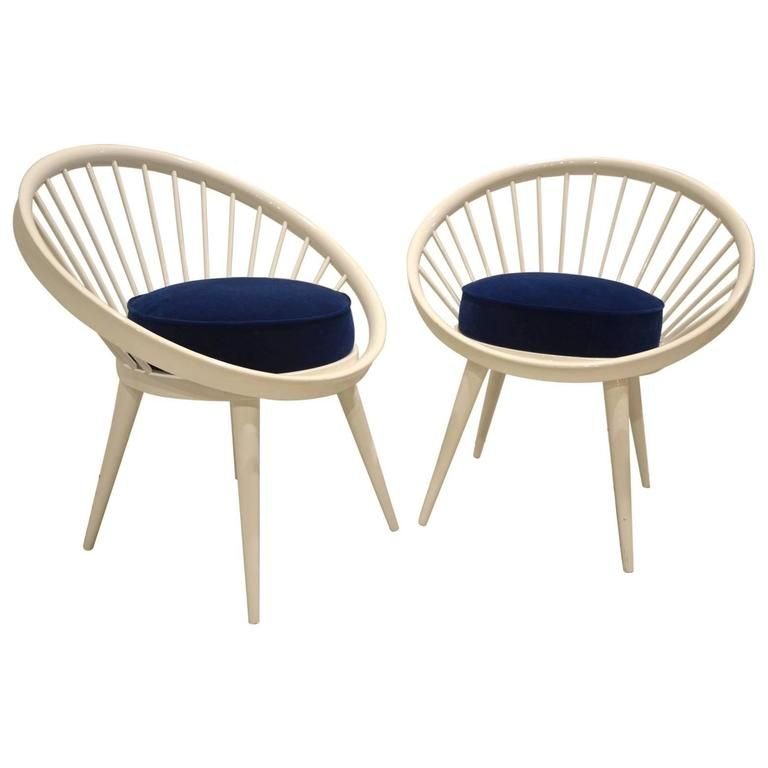 Circle Chair vintage white circle chairsyngve ekström, set of 2 for sale at