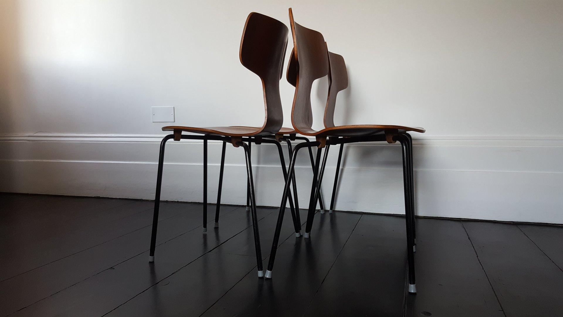 Jacobsen Stühle modell 3103 teak hammer stühle arne jacobsen für fritz hansen 1960er 4er set bei pamono kaufen