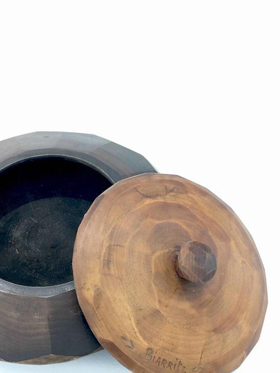 Circular wooden tobacco box 1950s for sale at pamono for Circular wooden box