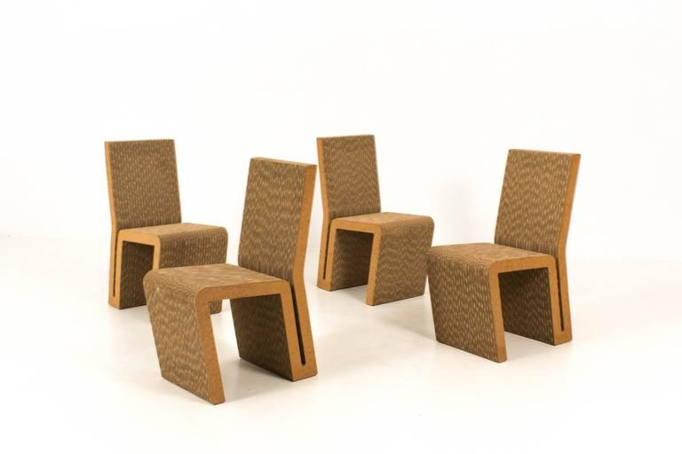Easy Edges Chairs By Frank Gehry For Vitra Set Of For - Frank gehry furniture
