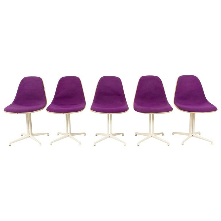 Mid Century Purple La Fonda Chairs By Charles And Ray