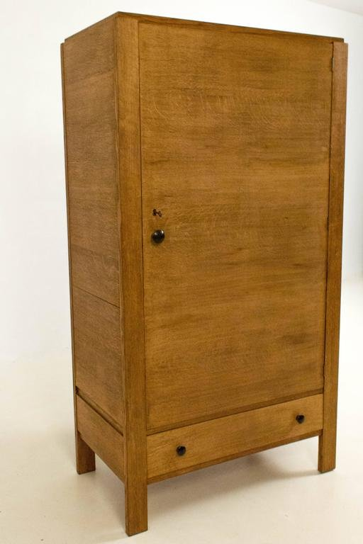 art deco haagse school armoire by cor alons 1920s for sale at pamono. Black Bedroom Furniture Sets. Home Design Ideas