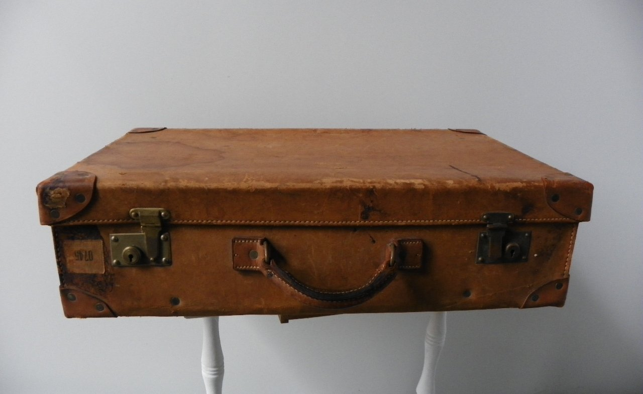 Vintage Swedish Leather Suitcase for sale at Pamono