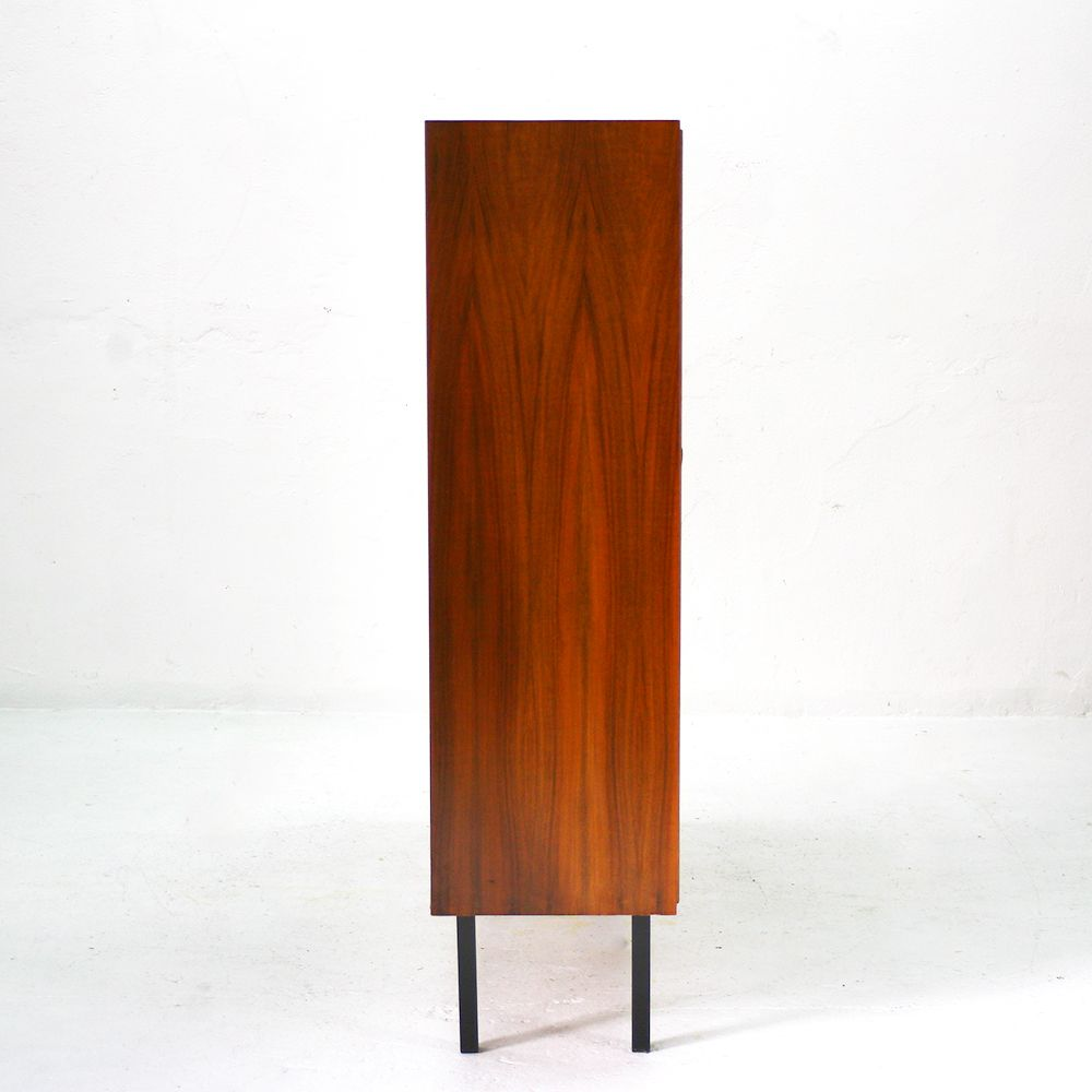 vintage walnut highboard 1960s for sale at pamono. Black Bedroom Furniture Sets. Home Design Ideas