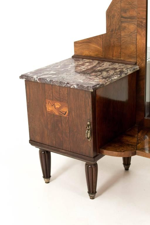 French Art Deco Vanity Table, 1930s for sale at Pamono