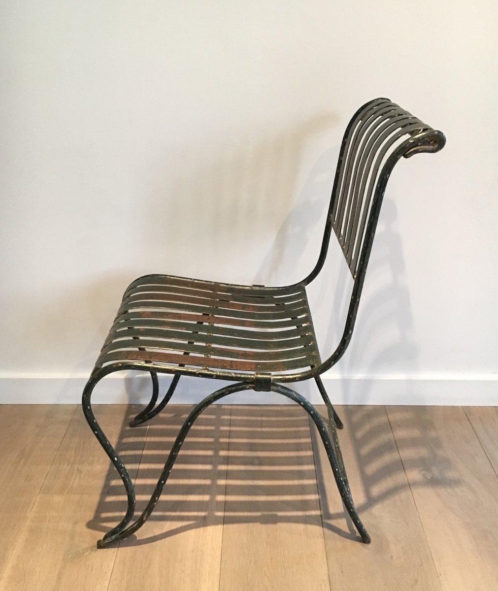 antiker stuhl aus schmiedeeisen 1800er bei pamono kaufen. Black Bedroom Furniture Sets. Home Design Ideas