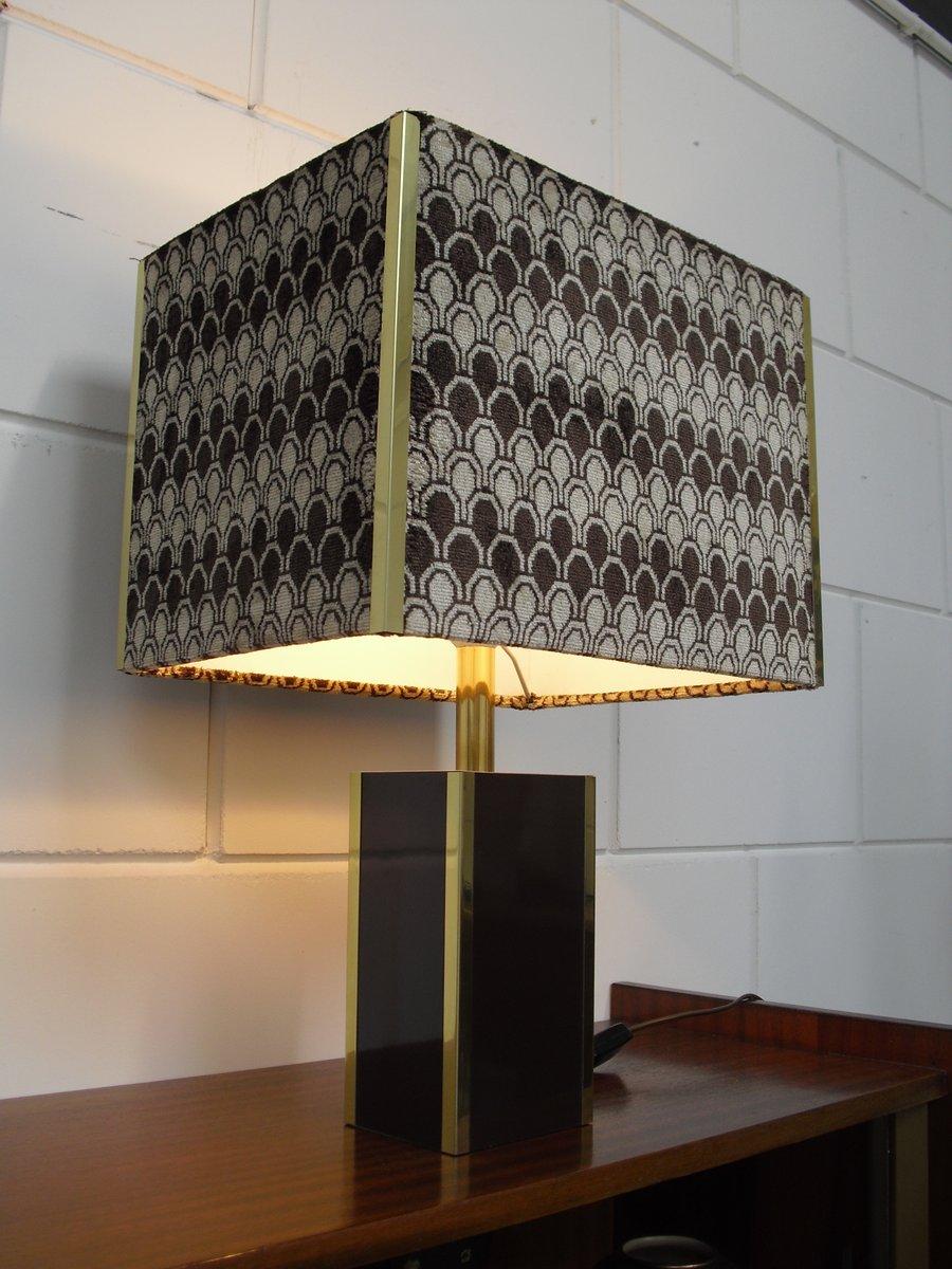 Vintage tischlampe mit samt lampenschirm 1970er bei for Lampenschirm tischlampe
